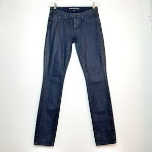 Banana Republic Waxed Denim Skinny Jeans 26